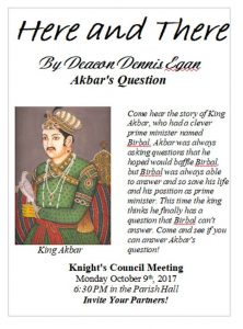K of C Meeting Oct. 9